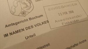 Amtsgericht Bochum, Urteil vom 14.02.2018 - 67 C 112/17